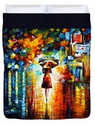 Rain Princess Duvet Cover by Leonid Afremov
