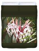 Queen Emma Crinum Lilies Duvet Cover