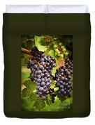 Red Grapes Duvet Cover