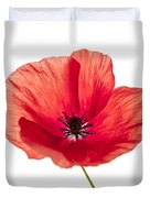 Red Poppy Flower Duvet Cover