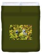 Ripe Maine Low Bush Wild Blueberries Duvet Cover
