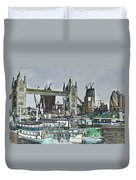 River Thames Sketch Duvet Cover