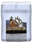 Rockland Breakwater Lighthouse Duvet Cover