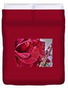 Red Rose And Summer Rain Duvet Cover