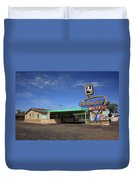 Route 66 - Tucumcari New Mexico Duvet Cover