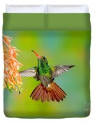 Rufous-tailed Hummingbird Duvet Cover