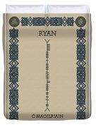 Ryan Written In Ogham Duvet Cover