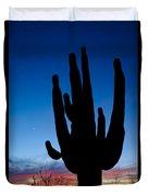 Saguaro Silhouette Duvet Cover