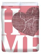 San Antonio Street Map Home Heart - San Antonio Texas Road Map I Duvet Cover