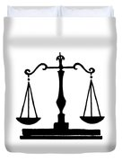 Scales Of Justice Duvet Cover