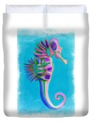 The Pretty Seahorse Duvet Cover by Deborah Boyd