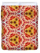 Seamlessly Tiled Kaleidoscopic Mosaic Pattern Duvet Cover