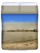 Shaw's Wharf At Sakonnet Point In Little Compton Rhode Island Duvet Cover