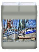 Shrimp Boats Season Duvet Cover