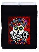 3 Skulls Duvet Cover