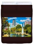 Skyline Of A Modern City - Charlotte North Carolina Usa Duvet Cover