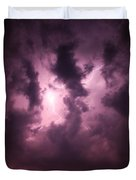 Small But Eruptive Cell North Of Kearney Duvet Cover