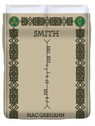 Smith Written In Ogham Duvet Cover