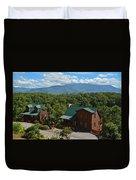 Smoky Mountain Cabins Duvet Cover