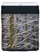Snow Covered Trees Duvet Cover