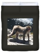 Snow Monkey Duvet Cover