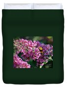 Snowberry Clearwing Hummingbird Moth Duvet Cover