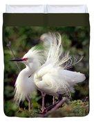 Snowy Egret Duvet Cover