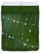 Spider Web With Dew Drops  Duvet Cover