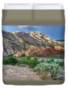 Spring Storm Over Split Mountain Dinosaur National Monument Duvet Cover