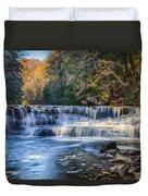 Squaw Rock - Chagrin River Falls Duvet Cover