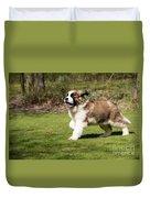 St Bernard Dog Duvet Cover