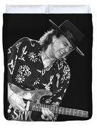 Guitarist Stevie Ray Vaughan Duvet Cover
