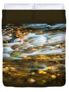 Stream Fall Colors Great Smoky Mountains Painted  Duvet Cover