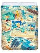 Summer Postcards Duvet Cover by Amanda Elwell