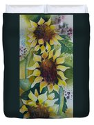 3 Sunflowers Duvet Cover
