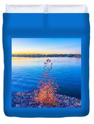 Sunset At Lake Wylie Duvet Cover