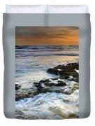 Sunset At The Mediterranean Sea Duvet Cover