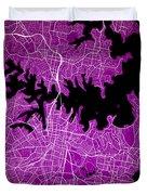Sydney Street Map - Sydney Australia Road Map Art On Colored Bac Duvet Cover