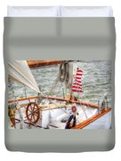 At The Helm Duvet Cover