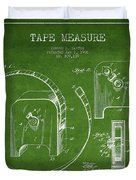 Tape Measure Patent Drawing From 1906 Duvet Cover