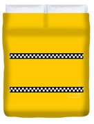 Taxi Background Duvet Cover