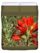 Texas Paintbrush Duvet Cover