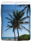 The Beach In Hollywood Florida Duvet Cover