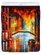 The Canals Of Venice Duvet Cover