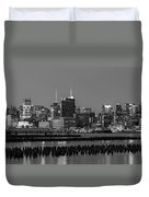 The Empire State Building Pastels Duvet Cover