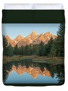 The Grand Tetons Schwabacher Landing Grand Teton National Park Duvet Cover