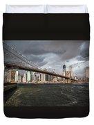 The Storm Over Manhattan Duvet Cover