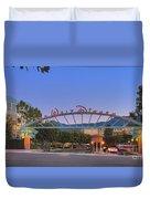 The Walt Disney Company In Burbank Ca. Sunset Duvet Cover