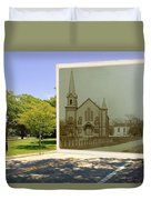 Third Methodist Church On The Commons In Little Compton Rhode Island Duvet Cover