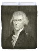 Thomas Jefferson Duvet Cover by English School